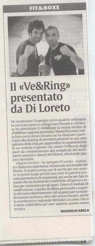 VE&RING articolo giornale